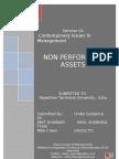 Project Report on NPA(AMIT GHAWARI Vision School of Mgmt. Chittorgarh