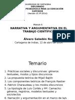 La Narración y La Argumentación en El Marco de La Tipología Discursiva II - Álvaro Saladén