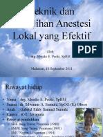 9. Teknik dan Pemilihan Anestesi Lokal yang Efektif1.ppt