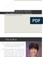 Issues Facing Music Teacher Education