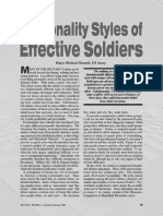 Personality Profiles of Soldiers