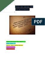Análisis de Obras Del Renacimiento