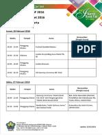 Susunan Acara IBF 2016