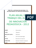 Plan Anual de Trabajo Del Aula de Innovacion Pedagogica 2012