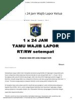 Terabaikan, 1 x 24 Jam Wajib Lapor Ketua Rt_Rw - KOMPASIANA