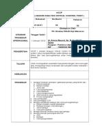 1. SOP HACCP ( Hazard Analysis Critical Control Point)