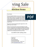 Moving Sale - Kitchen Items for Hong Kong Residents only
