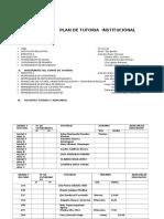 Plan de Tutoria Institucional Inicial Primaria Secundaria