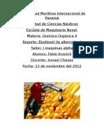 Reporte Del Biodiesel