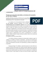 Factores Que Influyen Positivamente Sobre El Comportamiento Del Consumidor EDDY RIVAS