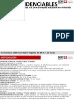 Encuesta SDP-Opinión Pública