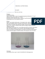 Determination of Zinc by Titration