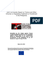 Philippine CSOs submit torture report to the UN