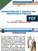 Adm y Control Del Presupuesto Público