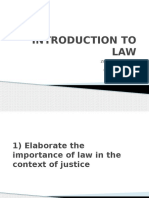 Introduction to Law Presentation