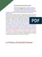 La Pobreza y El Desarrollo Humano