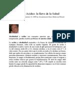 Alcalinidad Y Acidez- La Llave de La Salud (Www.naturopatamasdeu).