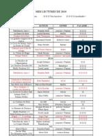 Listing Livres 2010