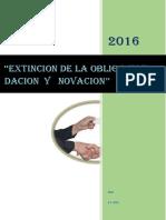 extincion de  pago:dacion y novacion