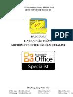Giao trinh tin hoc MOS_Excel 2010