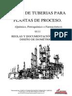 Curso de tuberías para plantas de proceso - 0111 Reglas & documentos para el diseño de Isometricas