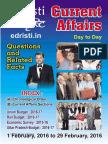 Edristi Current Affairs Feb 2016 Edristi Monthly Current Affairs