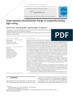 Initial Dynamic Viscoelasticity Change of Composites During Light Curing