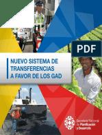 Nuevo Sistema de transferencias a Favor de Los GAD