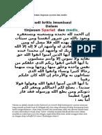 Studi Kritis Imunisasi Dalam Tinjauan Syariat Dan Medis