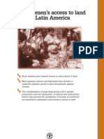 Rural Womens Access to Land in Latin America