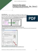 AutoCAD Tip - Plot in Black and White Ala Monochrome