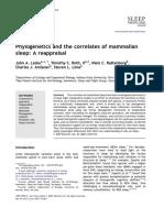 2008 Phylogenetics and the Correlates of Mammalian Sleep a Reappraisal
