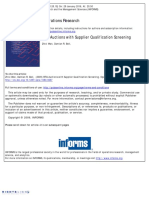 RFQ Auctions With Supplier Qualification Screening