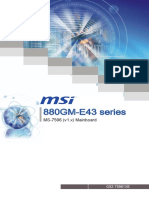 MSI 880GM-E43 Motherboard Manual