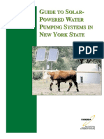 Guide Solar Powered Pumping Systems NYS