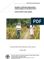 Do Sustainable Livelihoods Approaches Have a Positive Impart on the Rural Poor