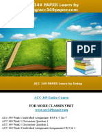 ACC 349 PAPER Learn by Doing