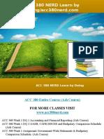 ACC 380 NERD Learn by Doing
