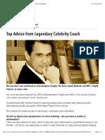 Top Advice from Legendary Celebrity Coach | VoiceCouncil Magazine