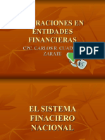Operaciones en Entidades Financieras