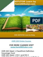 HSM 260TUTOR Learn by Doing-hsm260tutor.com