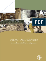 ENERGY and GENDER in Rural Sustainable Development