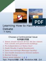 Classroom Debate for ESL
