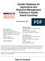 Gender Database for Agriculture Policies in Pacific Island Countries