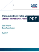 Project Portfolio Management - Comparison of Microsoft EPM and Primavera P6 v7 PPT
