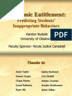 Academic Entitlement for SWPA 2007
