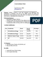 Sandeep Resume for F.E(1)