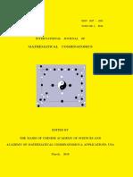 INTERNATIONAL JOURNAL OF MATHEMATICAL COMBINATORICS, vol. 1/2016