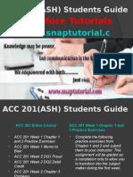 ACC 201(ASH) Apprentice tutors/snaptutorial
