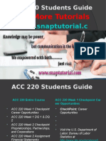 ACC 220 Apprentice tutors/snaptutorial